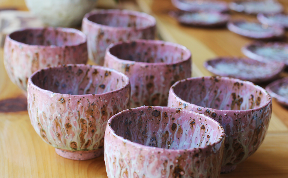 季節は春、成竹窯の桜シリーズ