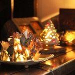 陶器のクリスマスキャンドル