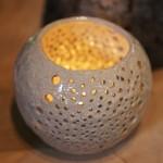 成竹窯の陶芸クリスマスツリーとキャンドル